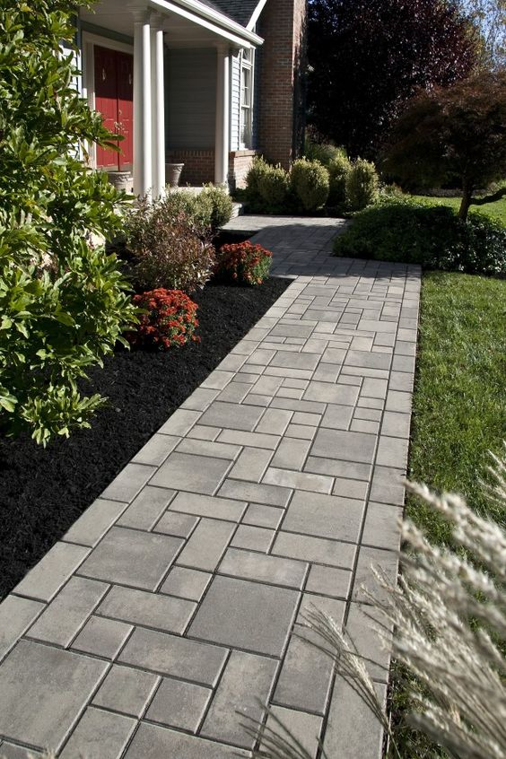 alei din beton amprentat stamped concrete walkway ideas 3