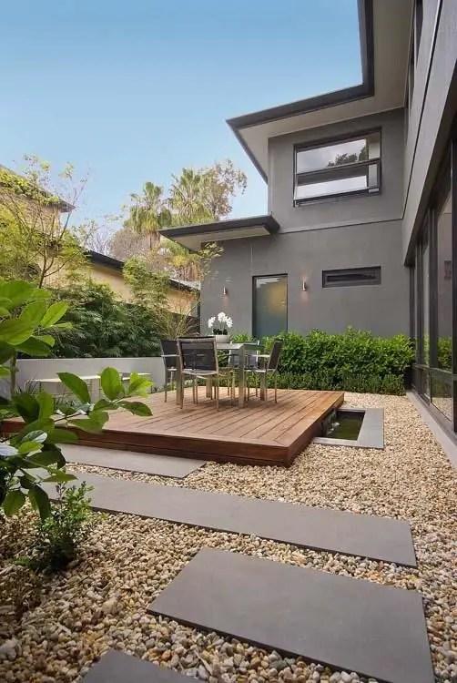 amenajarea gradinii cu pietris Pebble garden decoration ideas 15