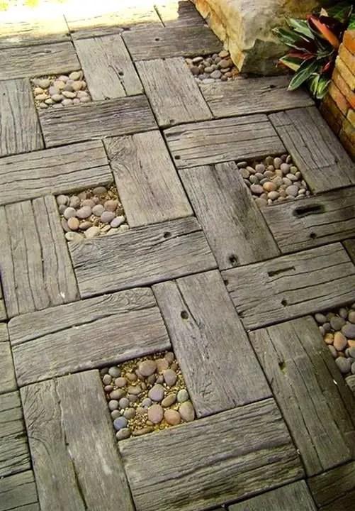 amenajarea gradinii cu pietris Pebble garden decoration ideas 9