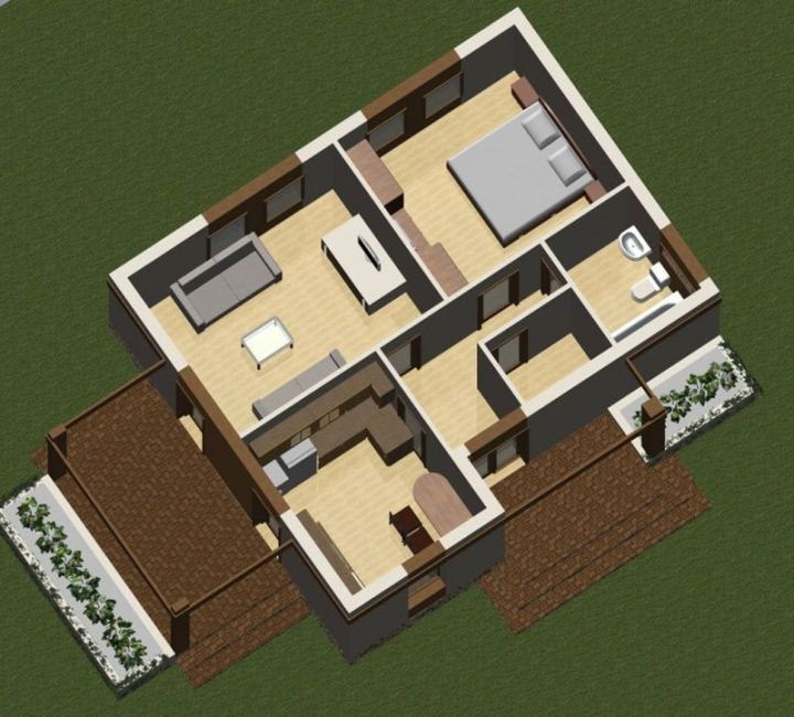 case cu doua camere two room house plans 5
