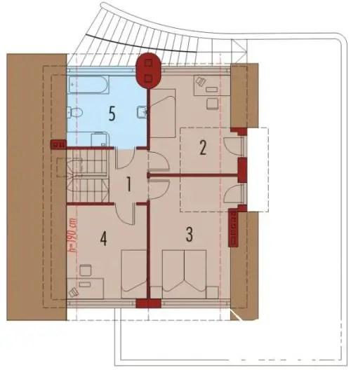 case cu mansarda si scara exterioara Attic houses with exterior stairs 10