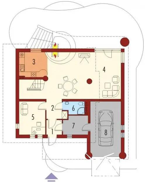 case cu mansarda si scara exterioara Attic houses with exterior stairs 9