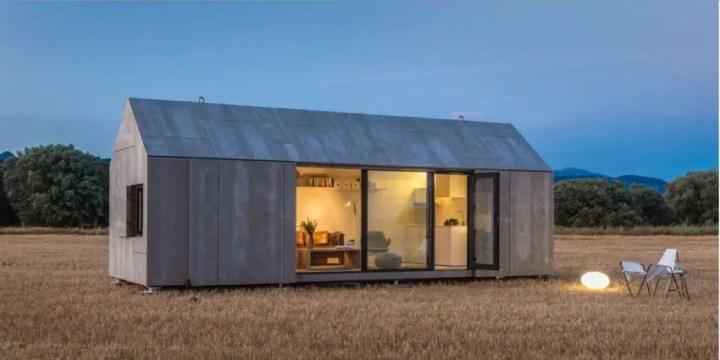Case din placi de beton - trei modele cu design diferit