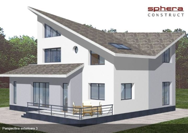 case medii cu mansarda Two story medium sized house plans 3