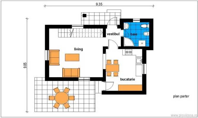 case mici de 60 de mp 60 square meter house plans 12