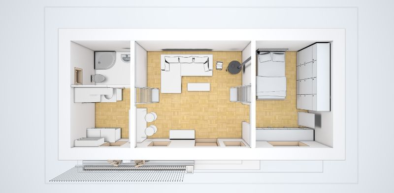 Case mici de 60 de mp trei proiecte generoase case for 45 square meter house interior design