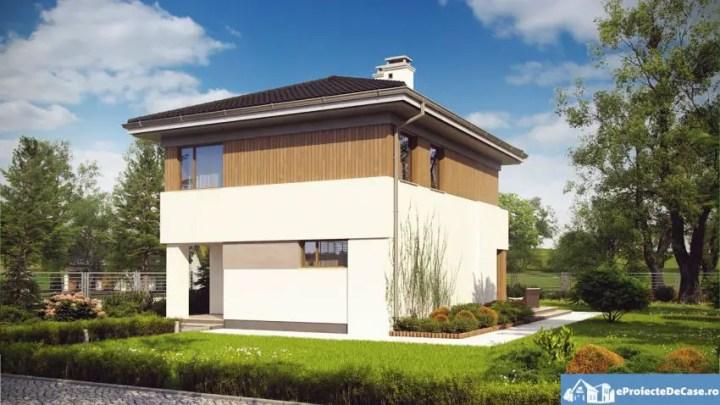 Modele de case cu open space - contraste superbe pe fatade
