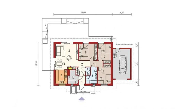 proiecte de case cu parter si 3 dormitoare 3 bedroom single level house plans 4