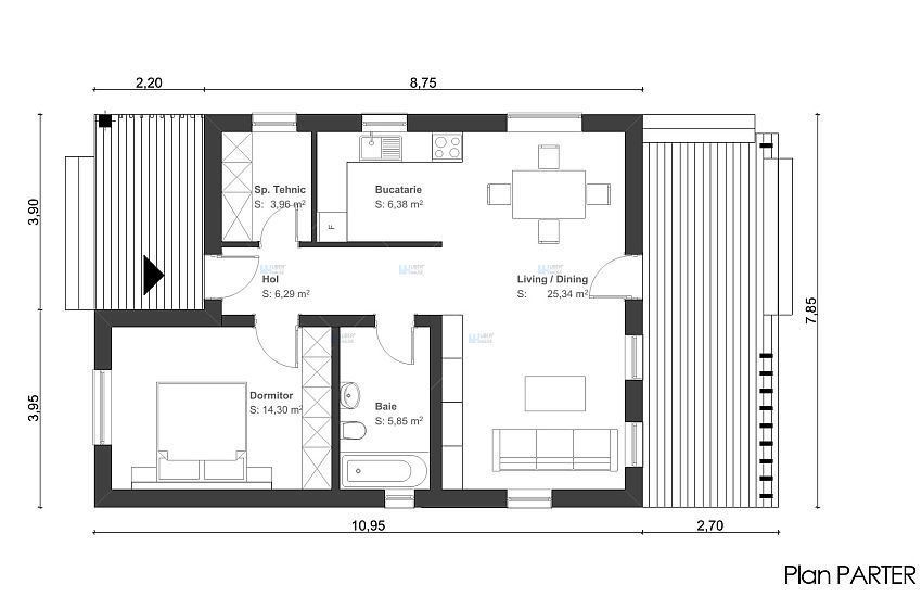 Proiecte de case de 60 70 mp strictul necesar case for Interior design 60 square meters