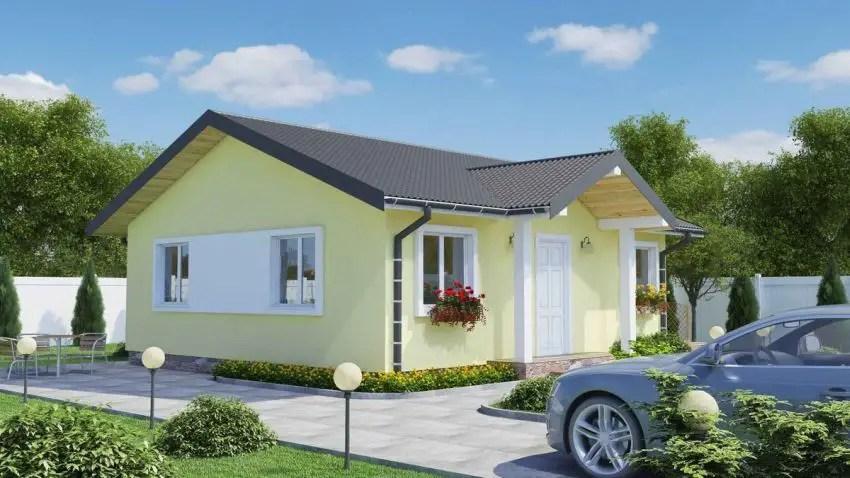 proiecte de case fara etaj cu 2 dormitoare Two bedroom single story house plans 2