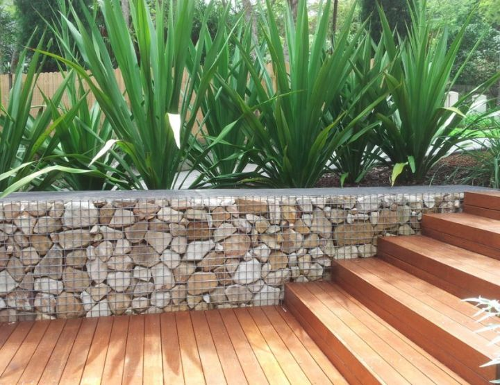Amenajarea gradinii cu gabioane Gabion garden landscaping ideas 7