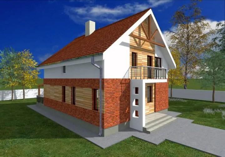 Case din caramida - caramida si lemn, in armonie perfecta