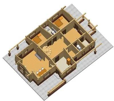 Case din grinzi chertate beam houses 3