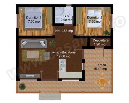 Case din lemn demontabile modular wood homes 8