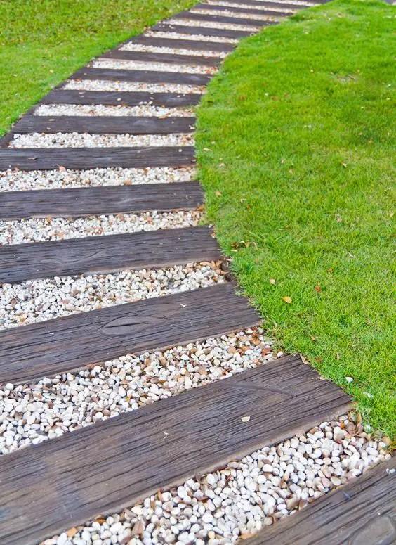 alei de gradina din lemn Garden wooden walkways 11