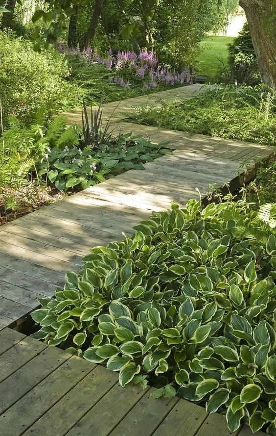 alei de gradina din lemn Garden wooden walkways 12