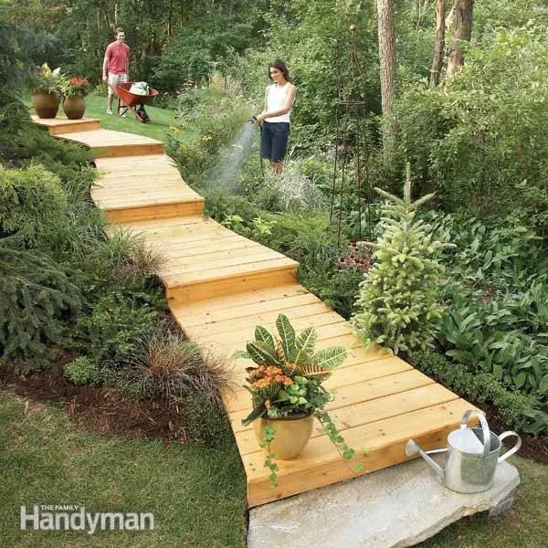 alei de gradina din lemn Garden wooden walkways 14