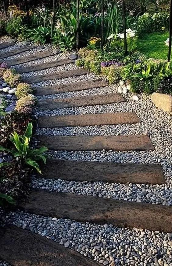 alei de gradina din lemn Garden wooden walkways 7