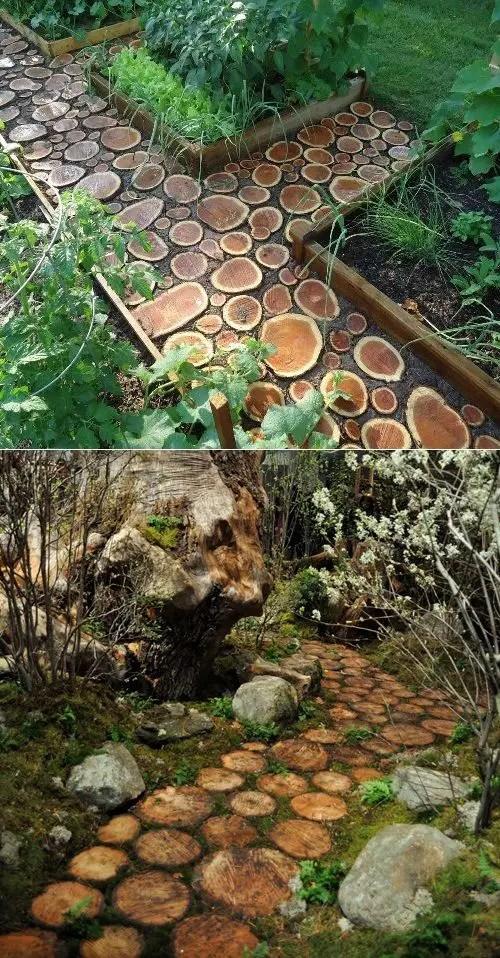 alei de gradina din lemn Garden wooden walkways 9