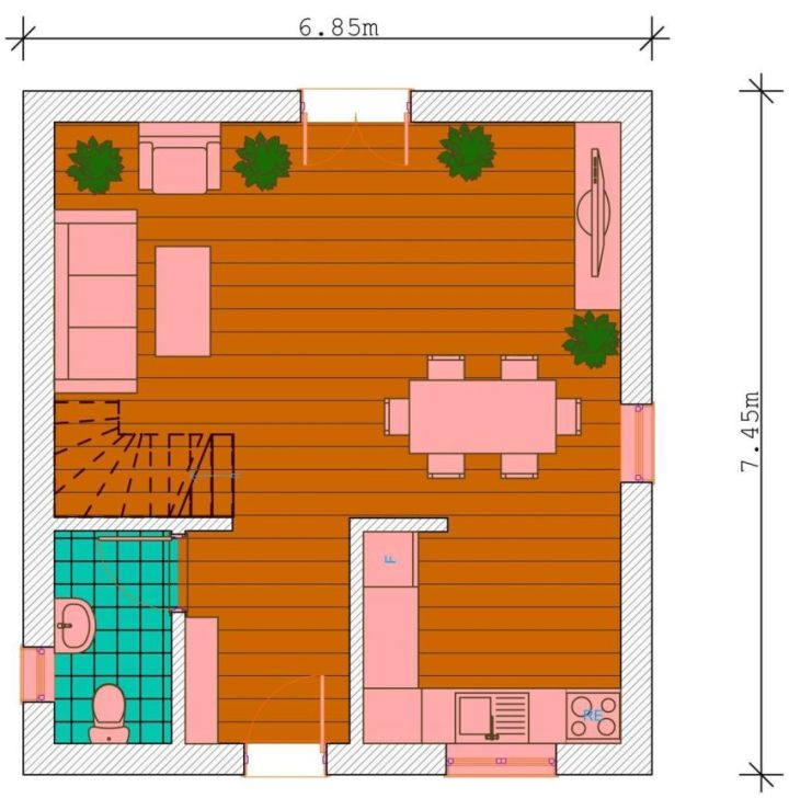 casa si gradina pe 300 de mp House and garden on 300 square meters 12