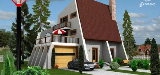 Proiecte de case duplex cu mansarda for Casa la tara ieftina