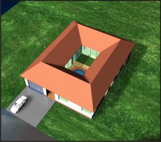 case cu gradina interioara Interior courtyard houses 1