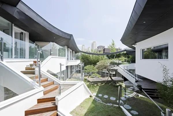 case cu gradina interioara Interior courtyard houses 14
