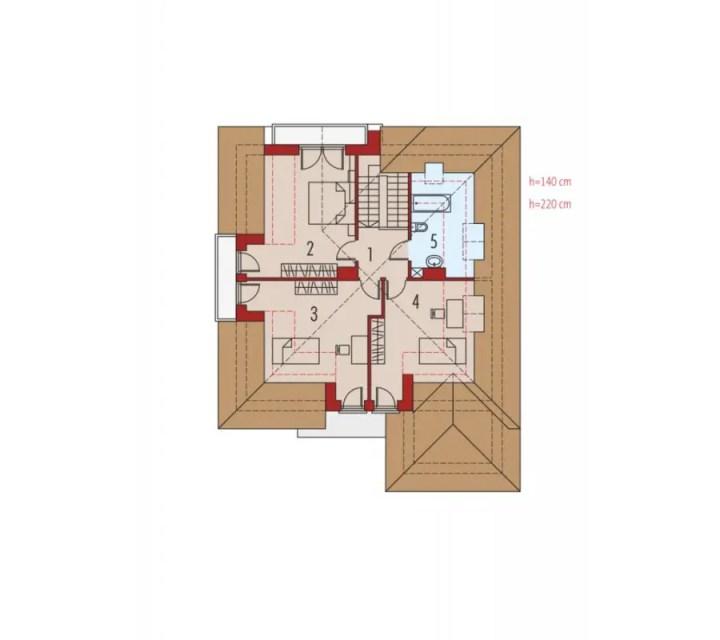 case medii pe doua nivele Medium sized two story house plans 25