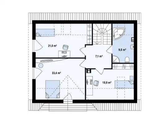 case medii pe doua nivele Medium sized two story house plans 4
