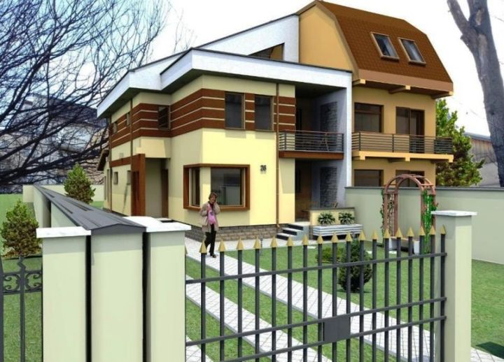 case mici cu etaj si mansarda Three story house plans 13