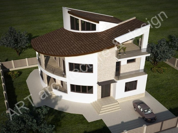 case mici cu etaj si mansarda Three story house plans 7