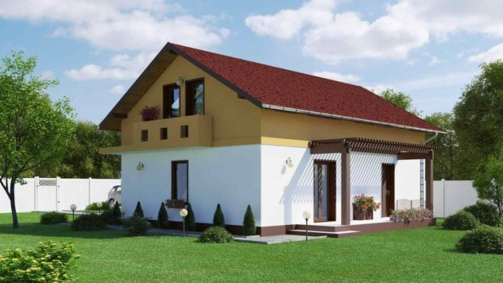 case mici, cu garaj integrat Small houses with built-in garage 7