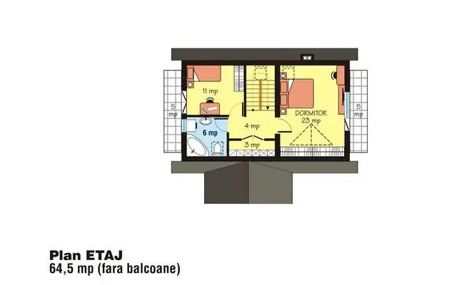 case mici cu lucarne Small dormer house plans 12