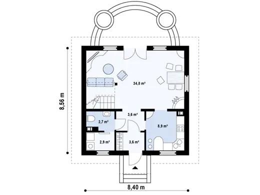 case mici cu lucarne Small dormer house plans 7