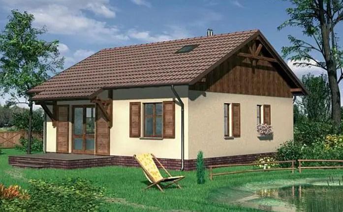 Case mici din lemn - spatiu pentru o familie tanara