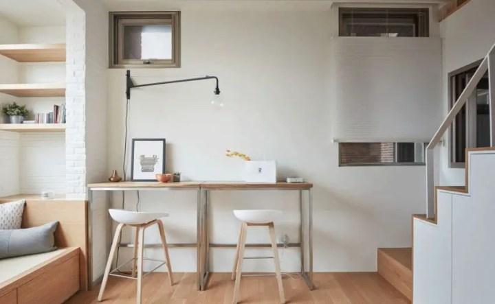 Design interior pe 20 de metri patrati - o masa cat un birou