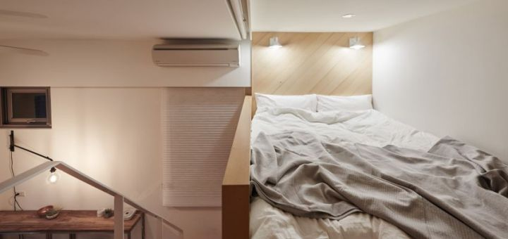 Design interior pe 20 de metri patrati - dormitorul a fost amplasat la inaltime
