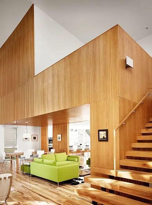 Interioare cu lambriu de lemn wood panel design ideas 1