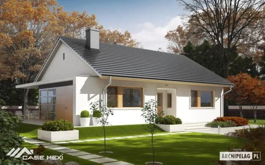 Proiecte de case cu parter si finisaje exterioare din lemn Single floor houses with exterior wood finishes 11