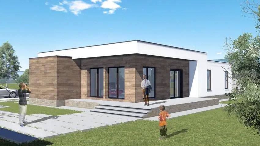 Proiecte de case cu parter si finisaje exterioare din lemn Single floor houses with exterior wood finishes 6