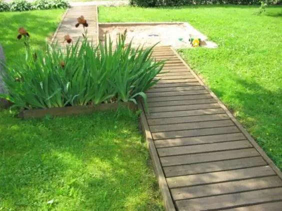 alei de gradina din lemn Garden wooden walkways 3