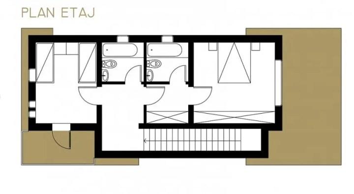 case ieftine cu etaj Cheap flat roof house plans 3