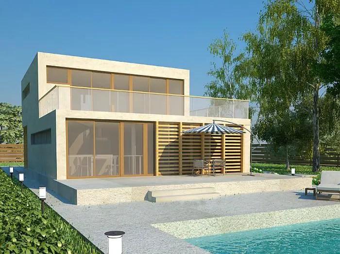 Case ieftine cu etaj - terase vaste pe ambele nivele