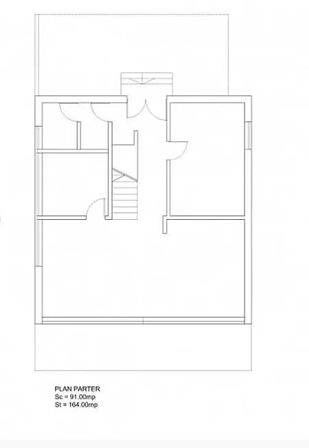 case ieftine cu etaj Cheap flat roof house plans 7