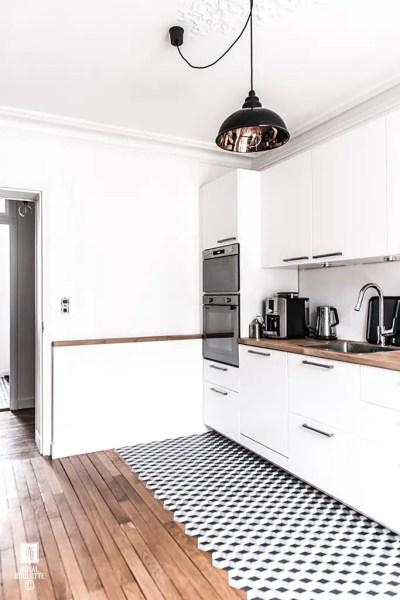 pardoseala de bucatarie combinata design interior