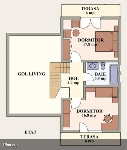 proiecte de case cu semineu House plans with fireplaces 15