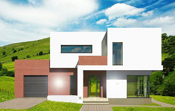 case cu acoperis terasa deck roof houses 2