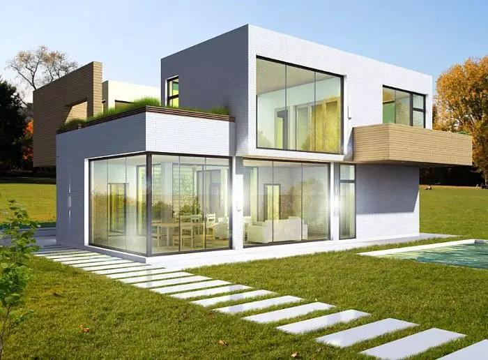 case cu acoperis terasa deck roof houses 3