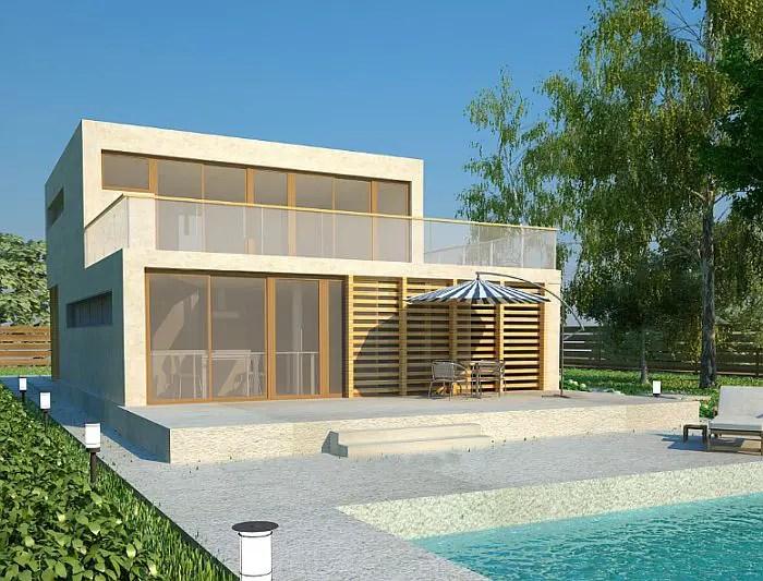 case cu acoperis terasa deck roof houses 5