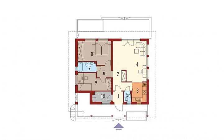 case pe un singur nivel sub 100 de mp Single floor houses under 100 square meters 6